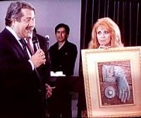 Anna Maria Guarnieri con il Console del Perù