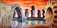 I ponti verso altre civiltà - Opera di Anna Maria Guarnieri