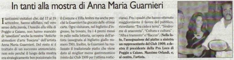 In tanti alla mostra di Anna Maria Guarnieri